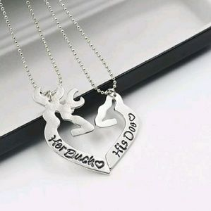Jewelry - 2 for $20~Her Buck/His Doe Necklace Set